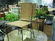 Sale 7937A - Lot 1152A - Set of 8 Wicker Chairs with Metal Frames