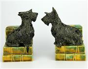 Sale 8139 - Lot 65 - Nell McCredie Pair of Scottie Dog Bookends