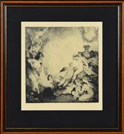 Sale 8330A - Lot 70 - Norman Lindsay (1879 - 1969) - Adolescence 30 x 29cm