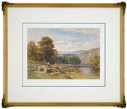 Sale 8443 - Lot 577 - Sutton Palmer (1854 - 1933) - Ingham Sketch, 1880 23.5 x 34cm