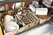 Sale 8478 - Lot 2245 - 3 Boxes of Kitchenwares & Glasses