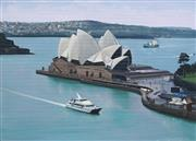 Sale 8838A - Lot 5091 - John Earle (1955 - ) - Opera House and Sydney Harbour 25 x 35cm