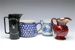 Sale 9093P - Lot 88 - Jugs Including Delft, MacLeay Duff and English Examples, tallest 18cm.