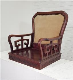 Sale 9174 - Lot 1016 - Chinese Rosewood Low Chair (H: 71 x 63 x 60cm)