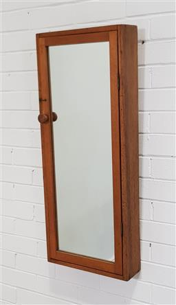 Sale 9255 - Lot 1284 - Mirrored wall mount cabinet (h:95 x w:39cm)