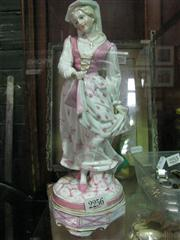 Sale 7969 - Lot 14 - Continental Figure of Lady, chips