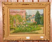 Sale 8015A - Lot 46 - FRENCH SCHOOL (P.CAMSICARF?) - Garden Scene 21 x 29 cm