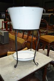 Sale 8117 - Lot 968 - Large Champagne Bucket on Stand