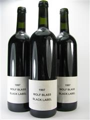 Sale 8238B - Lot 46 - 3x 1997 Wolf Blass Black Label Cabernet Shiraz, South Australia