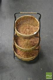 Sale 8257 - Lot 1056 - Three Tier Basket Stand