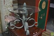 Sale 8326 - Lot 1759 - Glass & Metal Side Table
