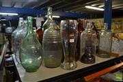 Sale 8477 - Lot 99 - Early Glass Bottles Including Vino Examples