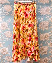 Sale 8474A - Lot 27 - A colourful Haute Hippy 100% silk full length skirt, with floral pattern, in very good condition, size M