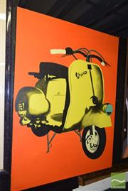 Sale 8509 - Lot 2060 - Artist Unknown Scooter Painting