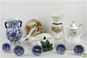Sale 8546 - Lot 178 - Rabbit Tureen Together With Other Ceramics Incl Vase, Teapot And Dishes