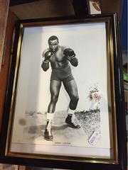 Sale 8659 - Lot 2289 - 10 Framed Boxer Pictures incl. Mike Tyson, Jimmy Braddock, Joe Louis, Sonny Liston, etc