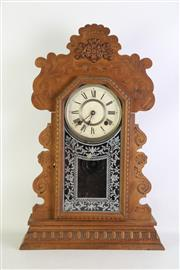 Sale 8913 - Lot 60 - Ansonia Mantle Clock H: 58cm, with key and pendulum