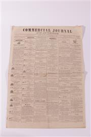 Sale 9015 - Lot 43 - A commercial journal newspaper, Sydney 1836.