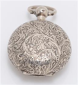 Sale 9180E - Lot 80 - A Victorian sterling silver sovereign case, Birmingham, c.1899 by Alfred Wigley, weight 18.5g