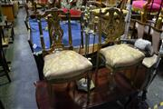 Sale 8035 - Lot 1033 - Pair of Carved Timber Back Chairs