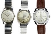 Sale 8426 - Lot 488 - THREE GENTS WRISTWATCHES; an Omega Seamaster Cosmic with centre seconds and date (repainted dial ?), an automatic Sicura with centr...