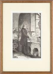 Sale 8518A - Lot 55 - An antique print of The Chemist, 19 x 12cm