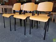 Sale 8629 - Lot 1085 - Set of Six Timber & Metal Chairs
