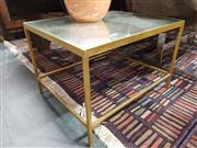 Sale 8769 - Lot 1058 - Pair of Mirrored Top Side Tables on Brass Base