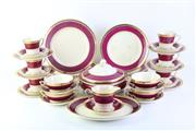 Sale 8775 - Lot 52 - A Part Crown Devon Dinner Service for 6 ( Broken Handles on 2 cups)