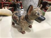Sale 8893 - Lot 1063 - Central American Terracotta Painted Dog