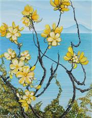 Sale 8945A - Lot 5055 - Anne Gye - Flowers and Vines over the Sea, c1976 51 x 40 cm