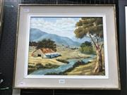 Sale 8981 - Lot 2026 - Sid Munday Country NSW Scene oil on board, 42 x 50cm, signed lower right