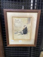 Sale 9016 - Lot 2026 - D MacDiarmid He didnt want to do it  ink and watercolour (AF) 19 x 14 cm (frame: 33 x 28 x 1 cm), signed and dated -