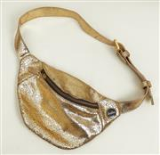 Sale 9081H - Lot 68 - A Besha metallic gold waist bag with front zip up pocket and adjustable strap
