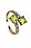 Sale 3808 - Lot 418 - A 10CT GOLD PERIDOT AND DIAMOND RING;