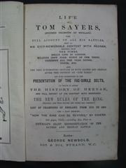 Sale 8073A - Lot 48 - The Life of Tom Sayers (George Newbold 1860), the full account of his great battles.