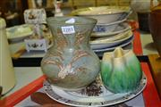 Sale 8169 - Lot 2281 - 2 Ceramic Vases & North Staffodshire Plate