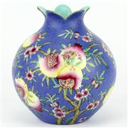 Sale 8244 - Lot 10 - Chien Lung Marked Enamel Glaze Pomegranate Jar