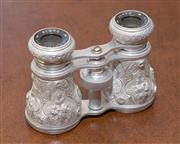 Sale 8341A - Lot 84 - A lovely pair of Opera glasses, the body engraved and embossed, Lemaire Ft. Paris France, W 10cm