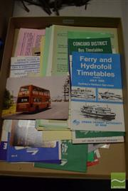 Sale 8530 - Lot 2290 - Collection of Bus, Train & Ferry Ephemera