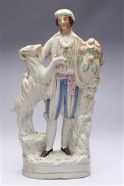 Sale 8701 - Lot 324 - Royal Staffordshire Figural Group of A Man and Dog ( H 37cm)