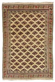 Sale 8725C - Lot 84 - A Vintage Afghan Beluchi Carpet, Hand-knotted Wool, 236x164cm, RRP $2,200