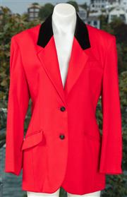 Sale 9044H - Lot 34 - A St Michael red and black velvet collared St in pure wool blazer, size Eur 38 (Made in England)