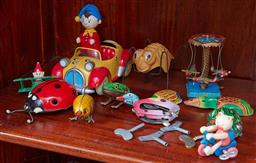 Sale 9103H - Lot 29 - A small group of mainly wind-up toys including bugs and Noddy.