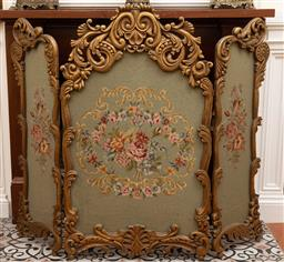 Sale 9190W - Lot 44 - A French tapestry giltwood firescreen. Height 110 x width 130cm