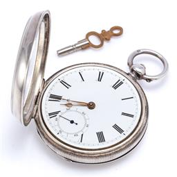 Sale 9194 - Lot 371 - AN ANTIQUE STERLING SILVER WALTHAM OPEN FACE POCKET WATCH; white dial, Roman numerals, subsidiary seconds 7 jewel full plate movemen...