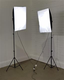 Sale 9254 - Lot 2399 - Pair of metal photography lights