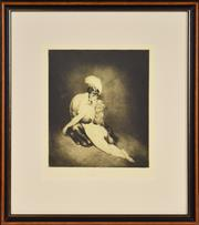 Sale 8330A - Lot 7 - Norman Lindsay (1879 - 1969) - Desire 28 x 23.5cm