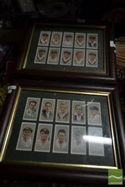 Sale 8525 - Lot 2069 - 2 Framed Reproduction Cricket Cigarette Cards