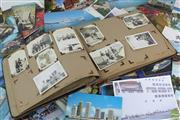 Sale 8568 - Lot 74 - Early Photo Album Together with Post Cards